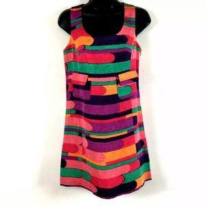 Tibi Dress 0 Silk Linen blend sleeveless shift new